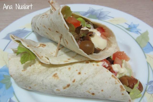 Burritos con atún